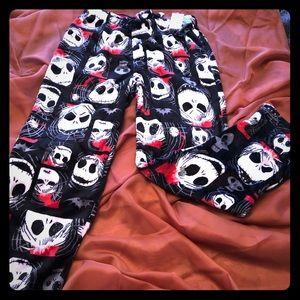 Other - Jack Skeleton Fleece Lounge Pants